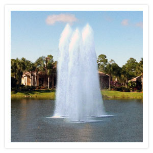 Triple Geyser Floating Lake Water Fountains